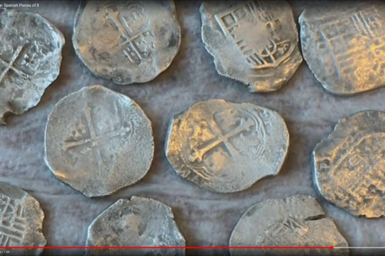 Cleaned Silver Shipwreck Coins